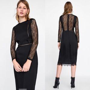 Zara Black Lace Back Dress